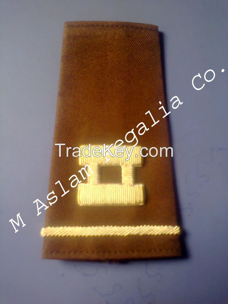 Hand Embroidery Military Shoulder