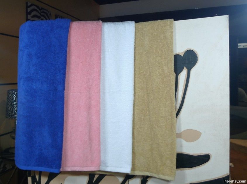 Hotel towels of bath towels