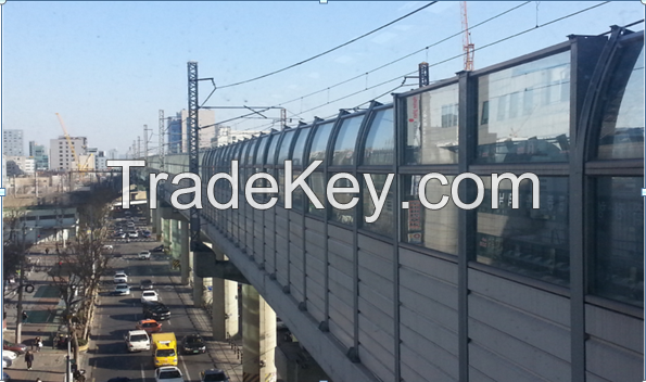 High Speed Railroad Noise Barrier