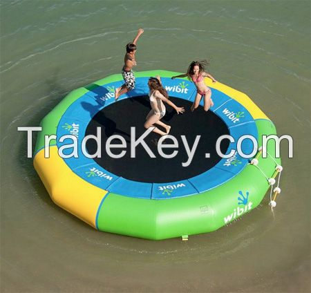 Hot sales inflatable trampoline for bungee jumping inflatable water trampoline blob for pool or lake