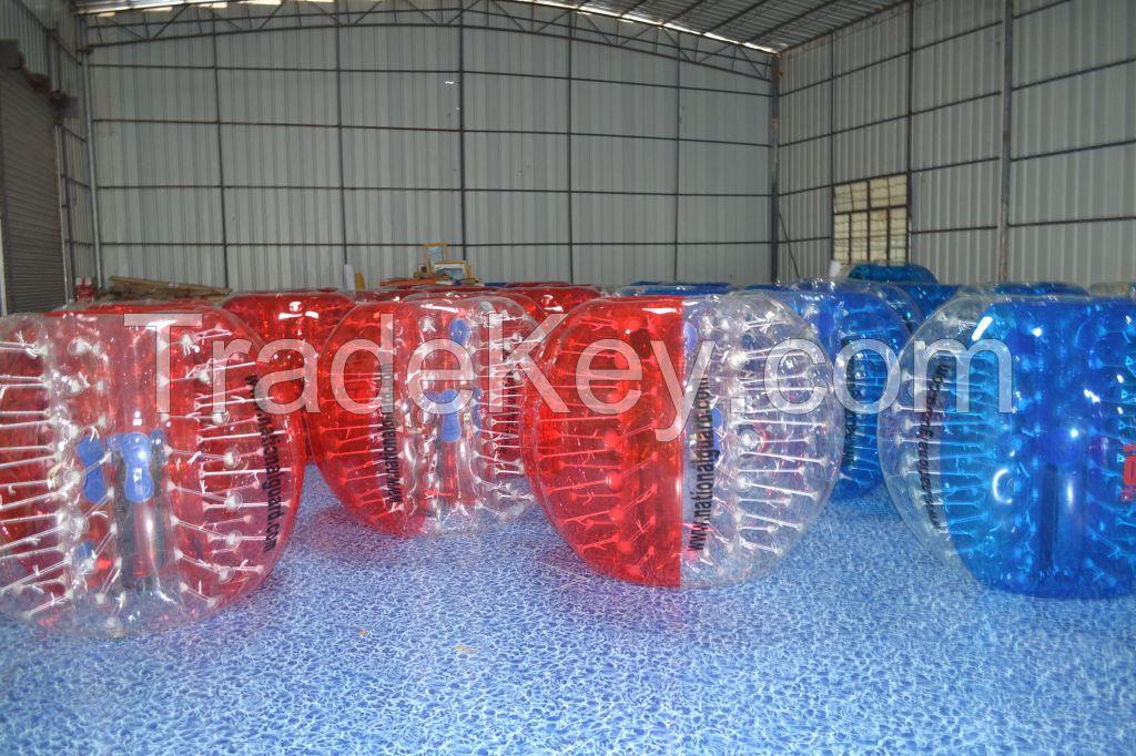 Inflatable bubble soccer/bumper ball ball size 0.8mm/1.0mm  1.2m/1.5m/1.8m pvc/tpu material
