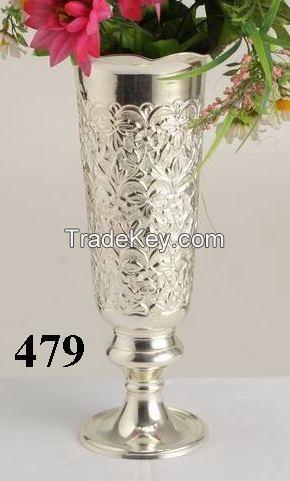 Aluminium Iron Brass Flower Vase By Overseas Craft India