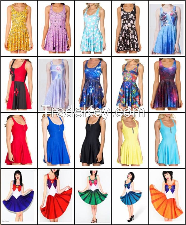 fashion women dresses summer lady party dresses