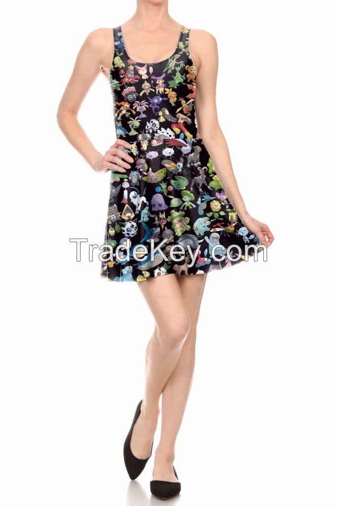 One Piece Sexy pleated dress women dress