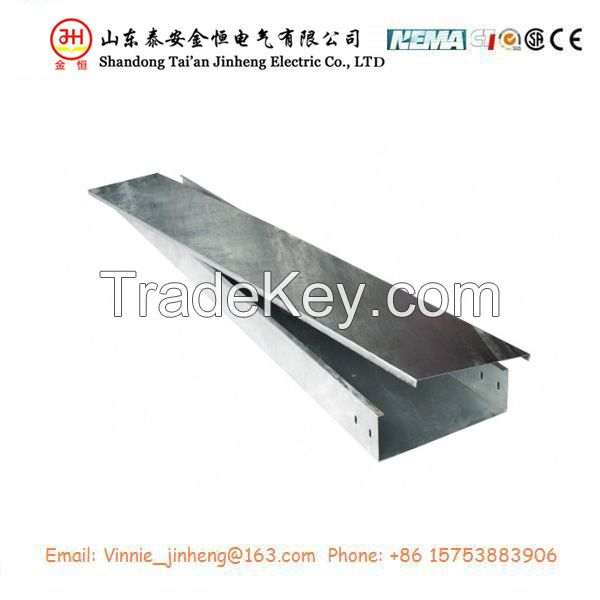Hot sale solid trough cable tray with cover