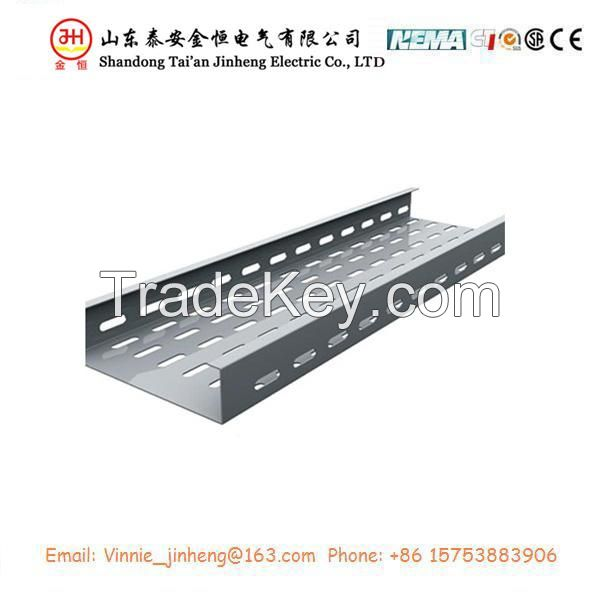 Hot sale galvanized steel perforated cable tray with ISO9001 in 500mm