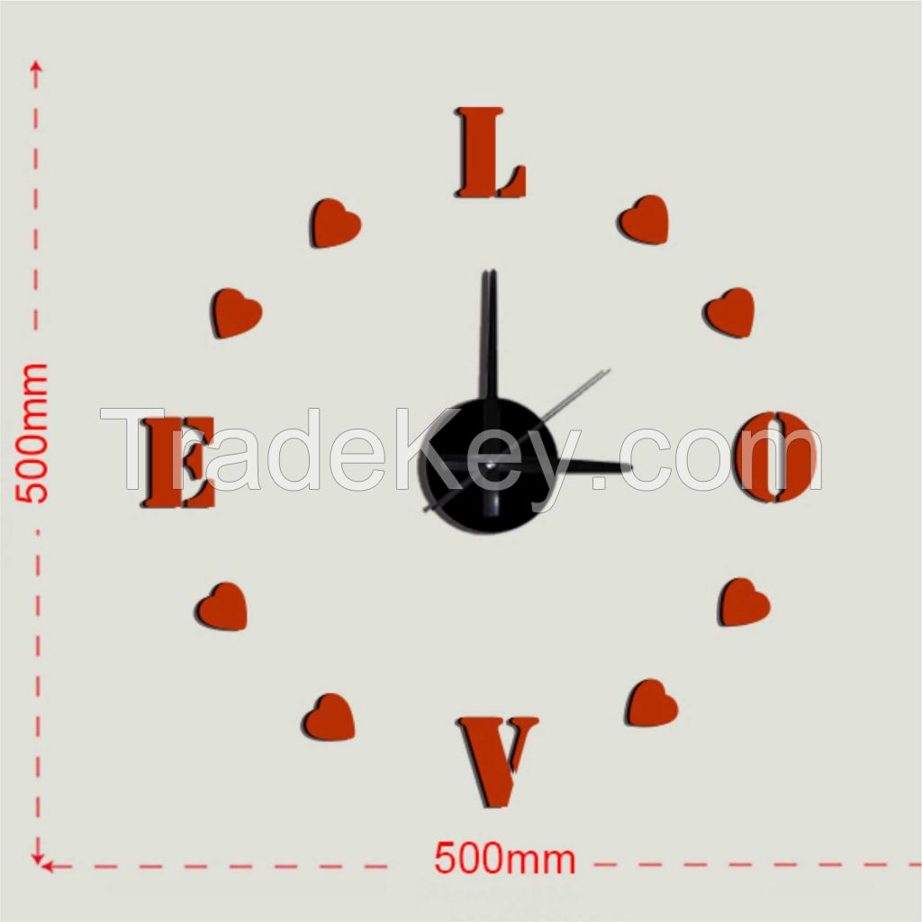 sticker removable wall clock, fashion number clock for home decor