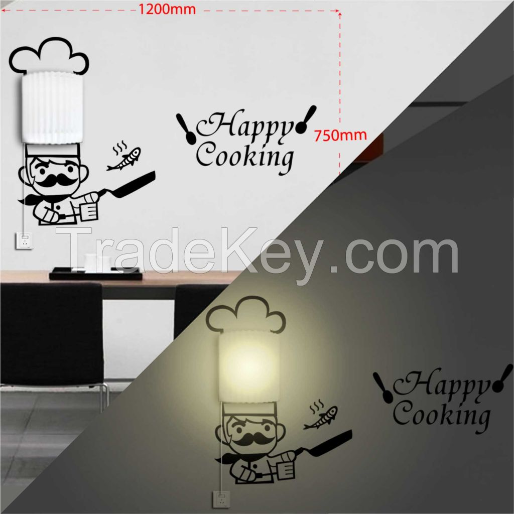 Modern wall sticker lamps, DIY wall lamps design for home decor