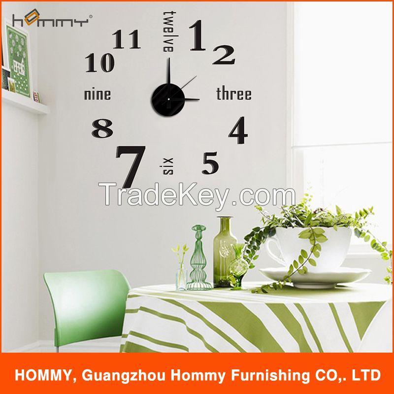 Fashion design EVA clock, sticker clock for home decoration