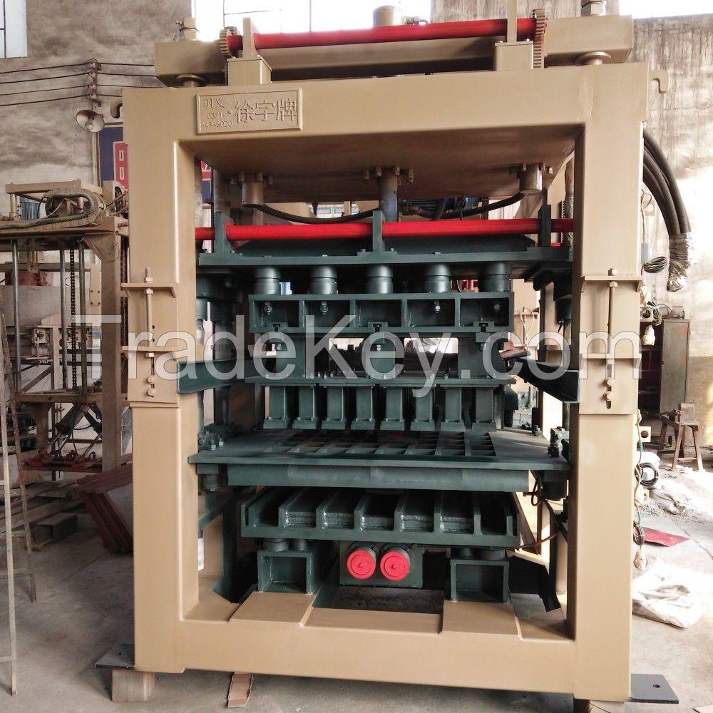 automatic concrete hollow block making machine