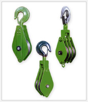 lifting clambs, pulley and chain