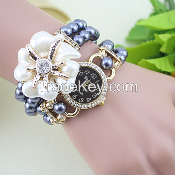Women Pearl Wrist Watches