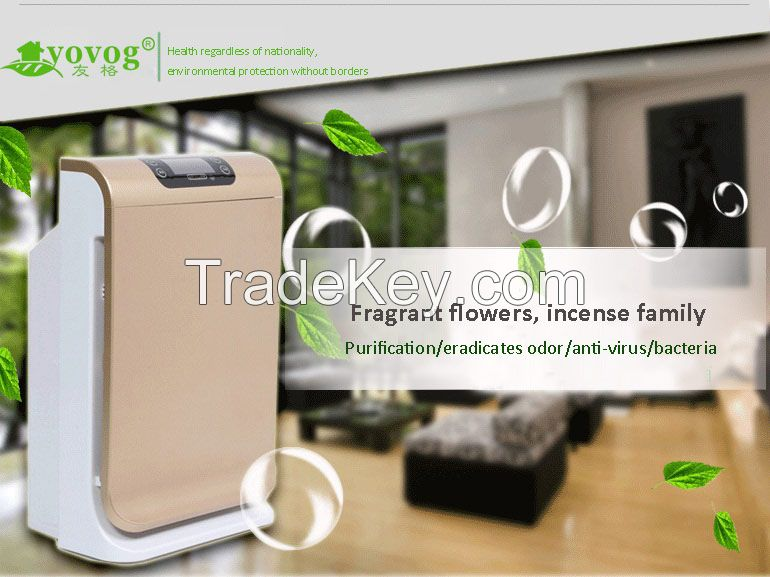 home air purifier GH-8189 with HEPA Active carbon filter pm2.5