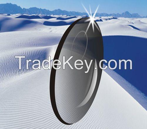 1.56 UV-400 Photochromic Brown lens bifocal Optical Lens