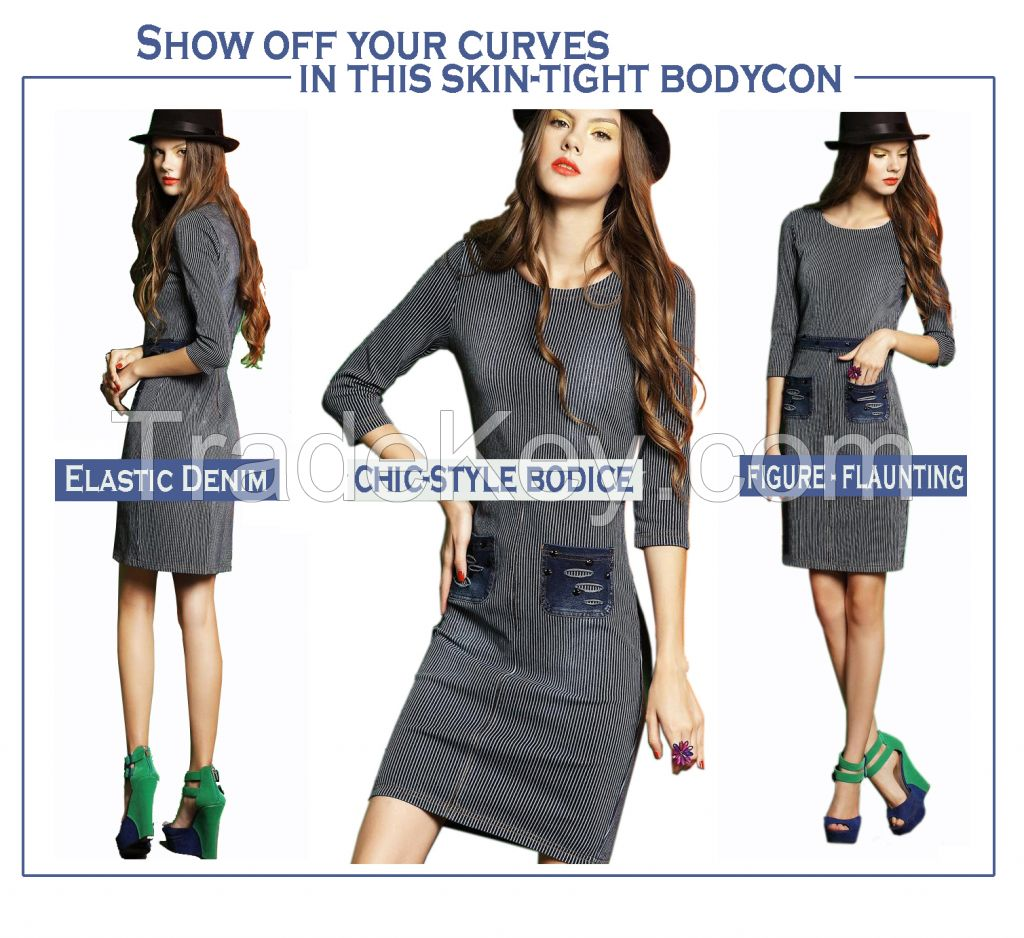 New 2015 Vintage Style body-con Dress