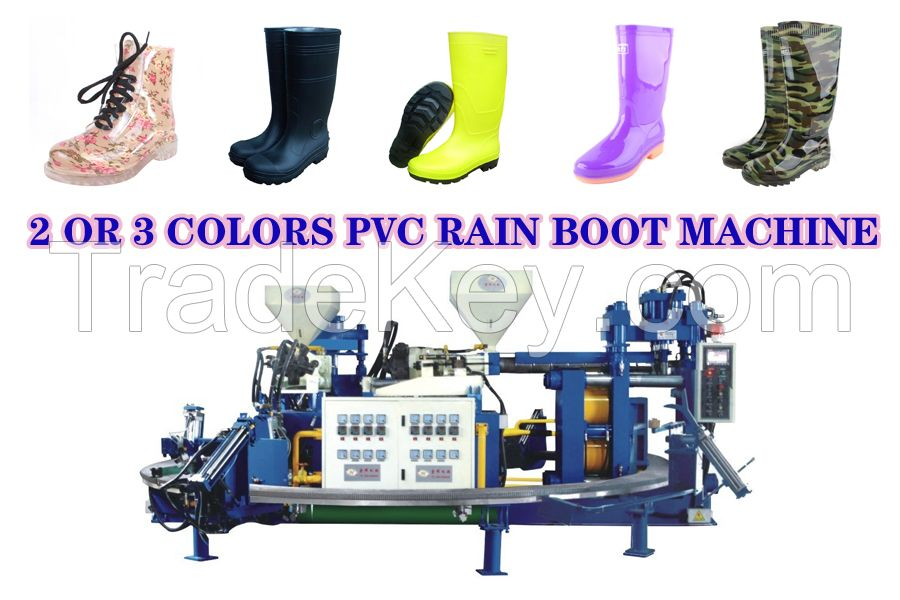 Double color rain boot machine