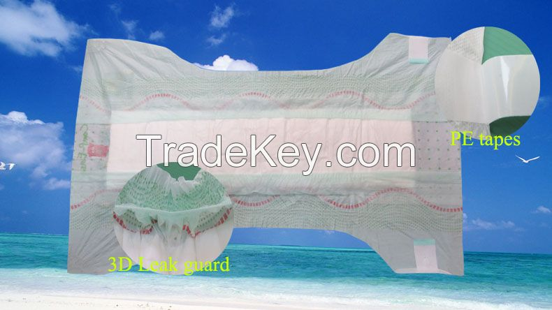 cheap super absorption paper tissue baby diaper