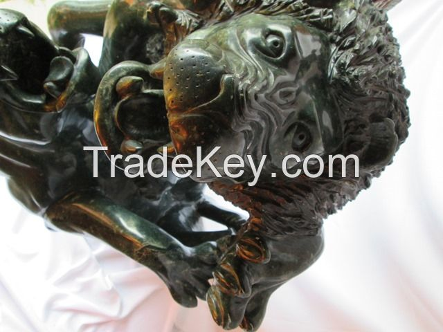 African life size sculpture, Rearing Stallion Sculpture from Zimbabwe