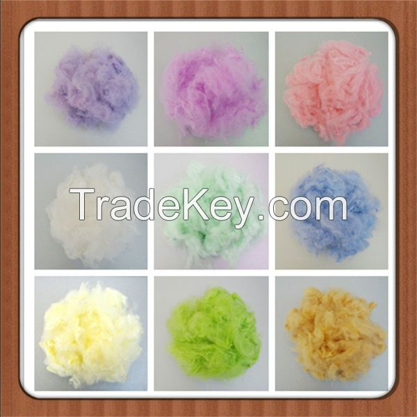 Recycled polyester staple fiber  colored 1.2D - 15 D