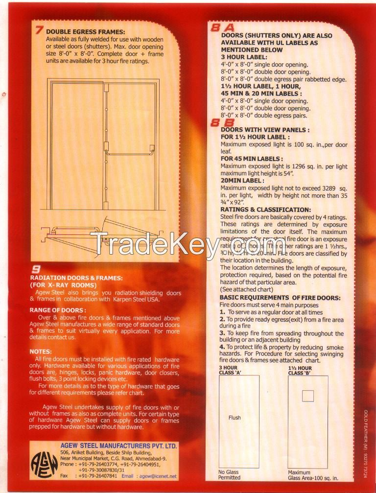 Fire Rated UL Listed Doors