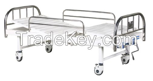 Full-fowler bed with stainless steel headboards  B-13