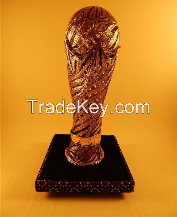 Trophy Football Silver Filigree Model