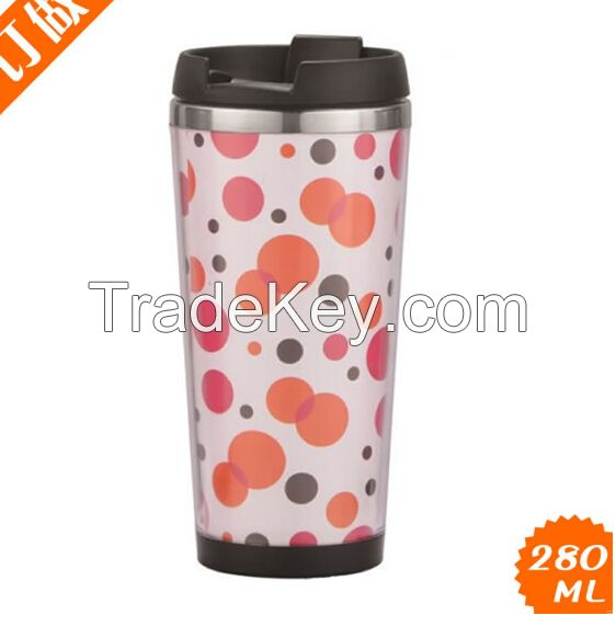 16 oz double wall mug, stainless steel tumbler