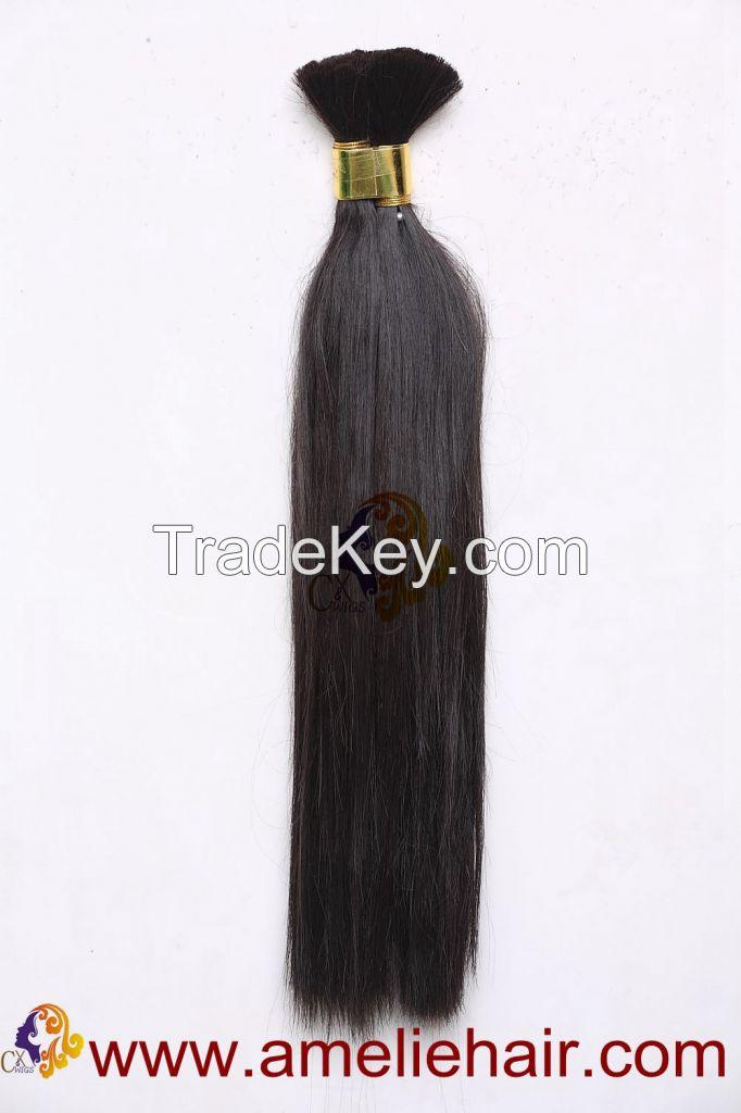 100 Natural Human Hair Bulk Hair Extensions By Amelie Hair China