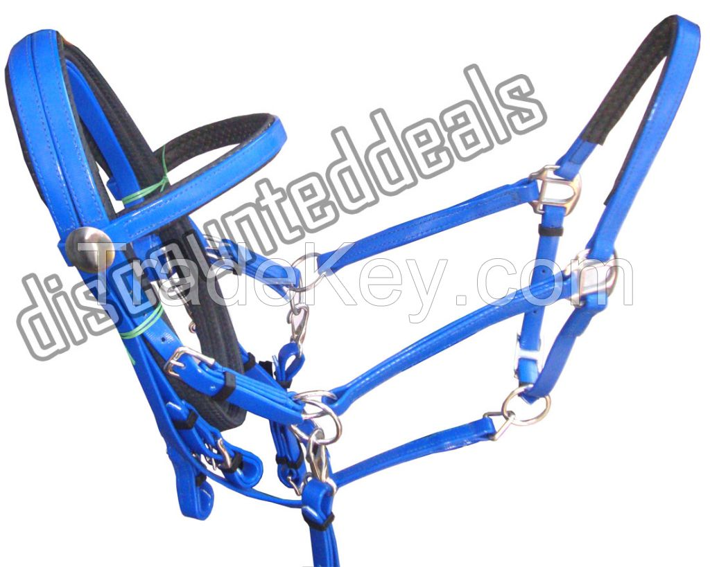 Blue Synthetic Biothane Bridle