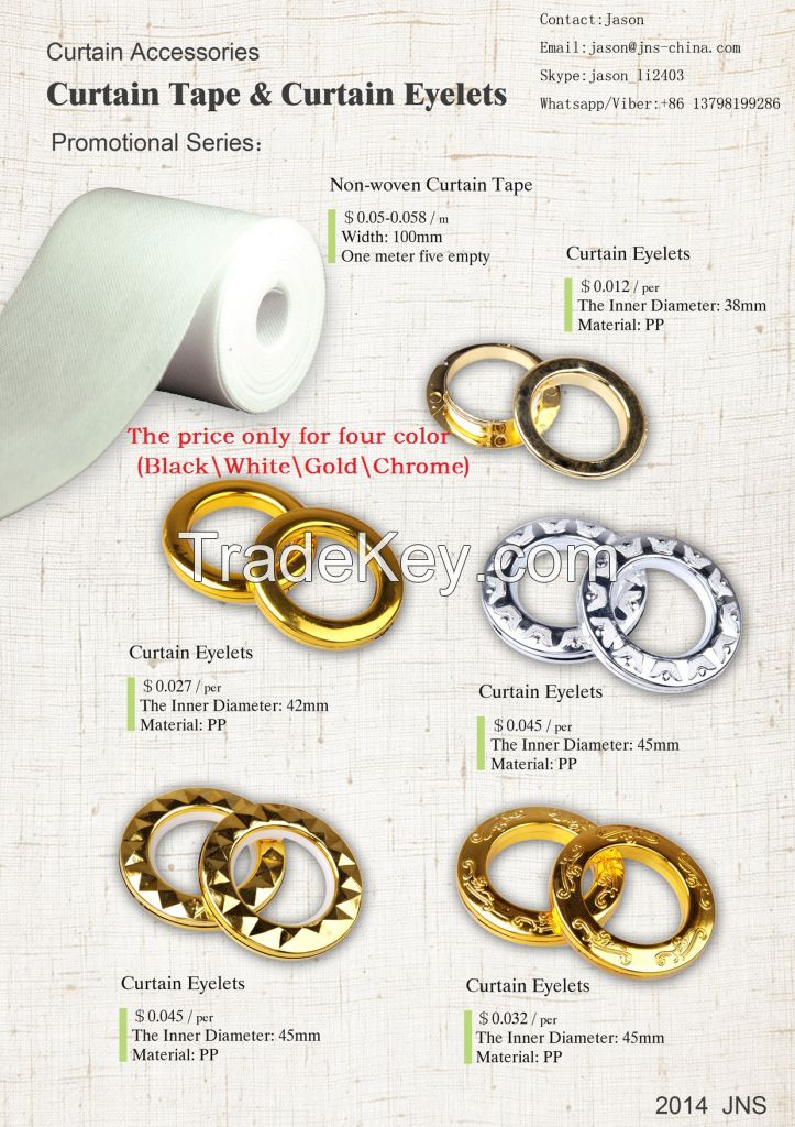 Eyelet Black Gold Silver Copper Brass Chrome Red Brown, 76mm, 40mm, 42mm, Nigeria Eyelet Ring