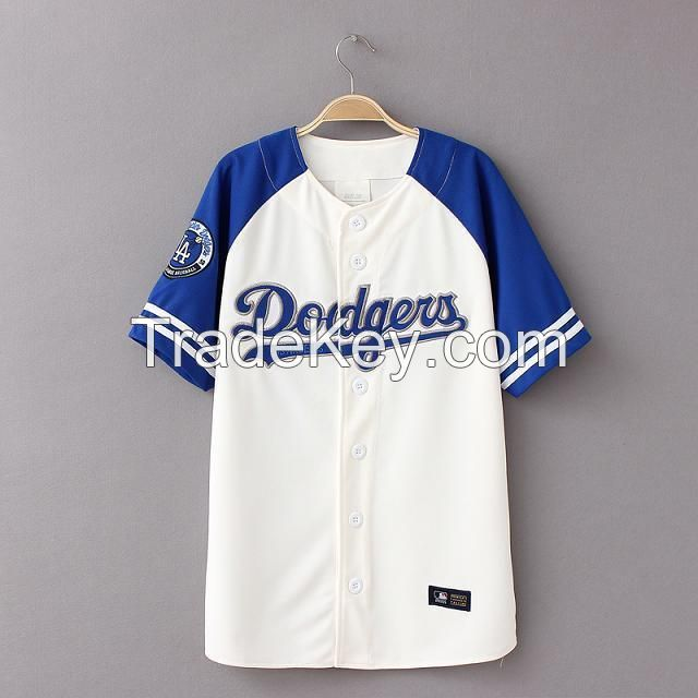 Girls Short Sleeve Sportswear Baseball Jersey