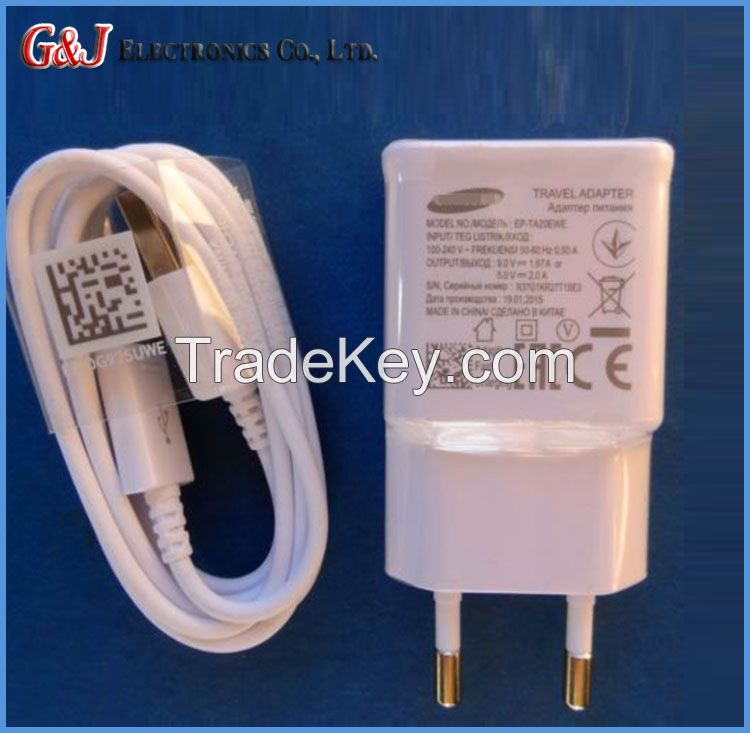 Mobile phone charger for Samsung S6/N4 Official genuine 2A fast charger factory supply