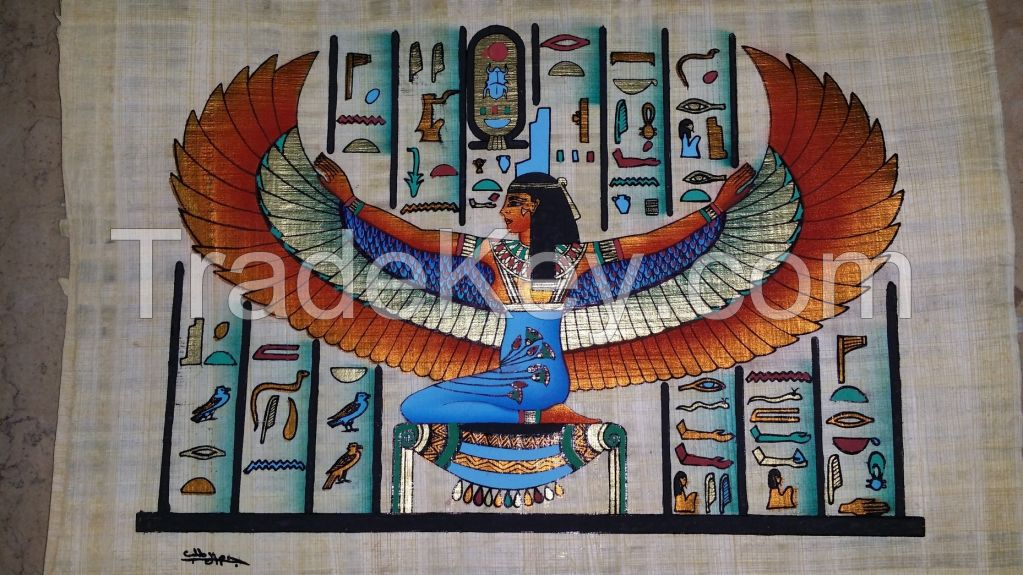 Ancienet Egyptian Handmade Painted Papyrus