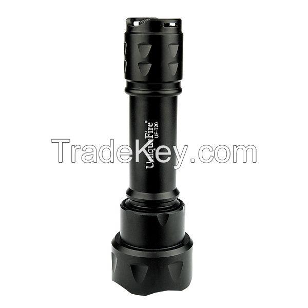 UniqueFire T20 aluminum rechargeable zoom led flashlight