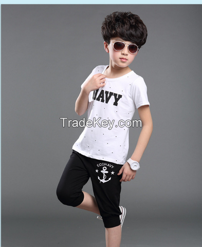 2015 fashionable new products, new hybrid two-piece, t-shirts and shor