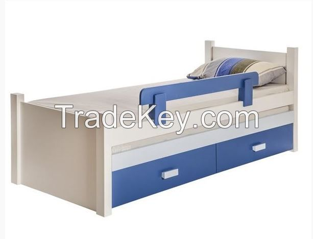 solid pine wood kids bed with pulled bed and drawers