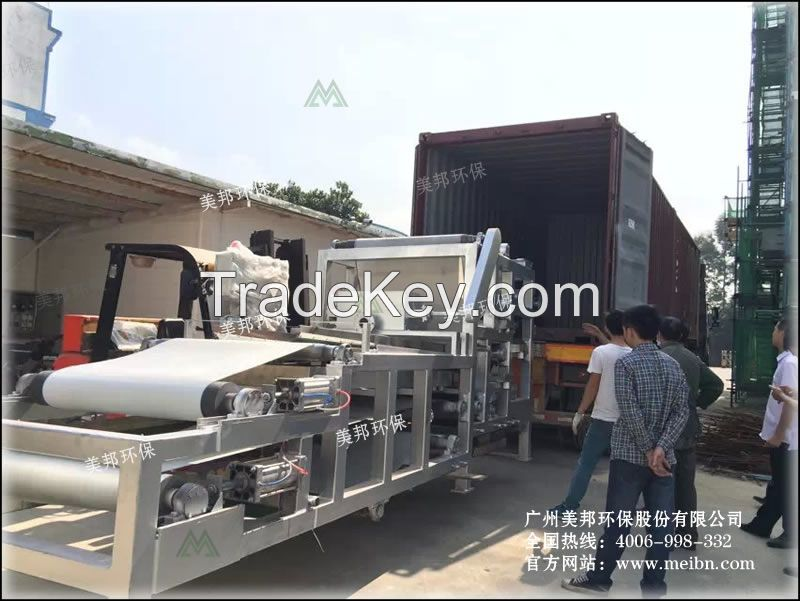 Stainless Steel Sludge Dewatering Belt Press Equipment