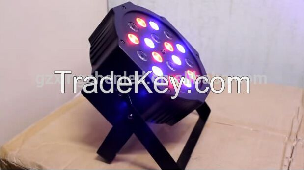 18pcs 1w led slim par can stage light