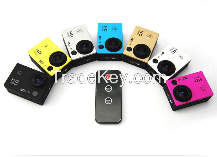 Full HD 1080P Wi-Fi Sports DV Waterproof Bicycle Bike Helmet Action Camera Camcorder IR Remote