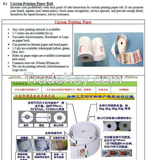 Cash Register Paper Thermal Self-Adhesive Labels  stickers Paper Roll Wholesale Manufacturer made in China