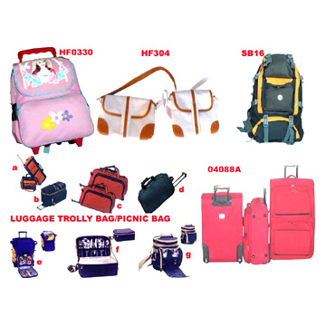 LUGGAGE BAGS,TROLLEY BAGS, HAND BAGS, PICNIC BAGS,