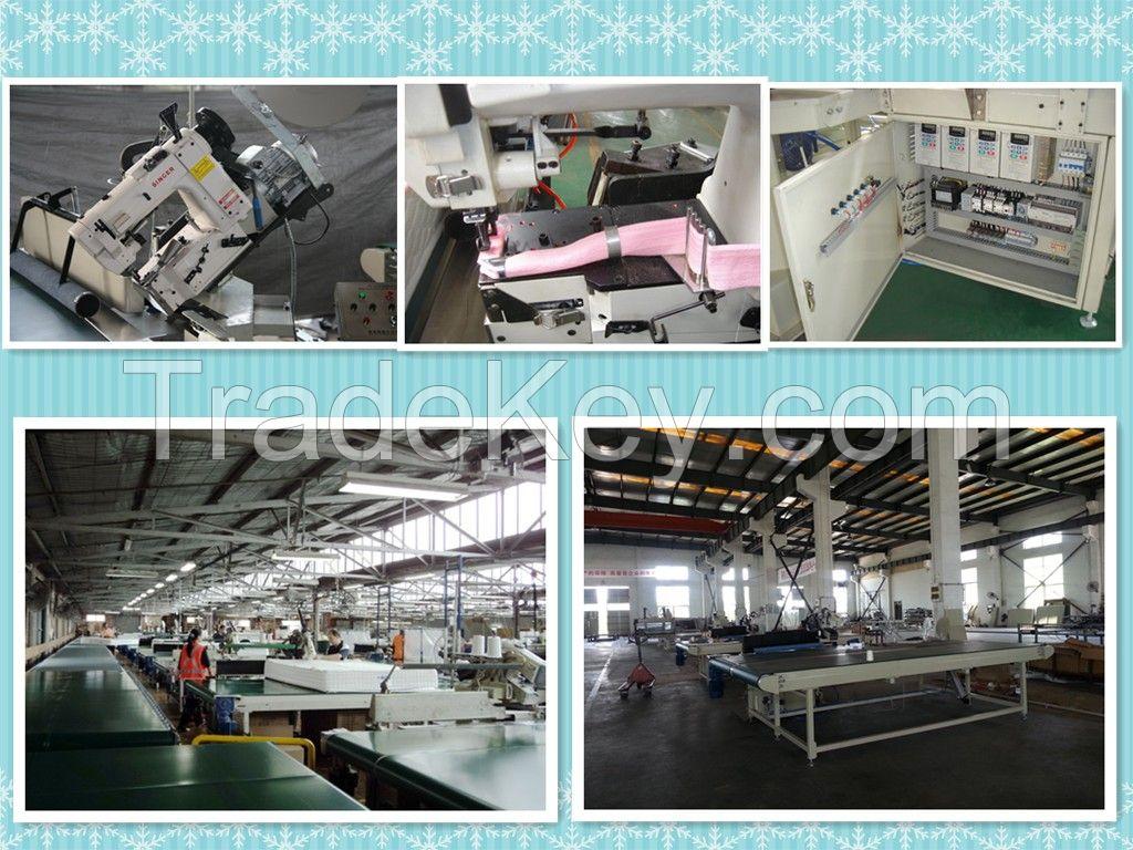 Auto-Flipping Tape Edge Mattress Sewing Machine