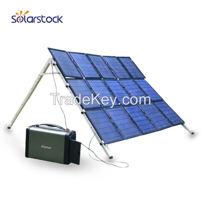 portable emergency backup power solar generator plug and play