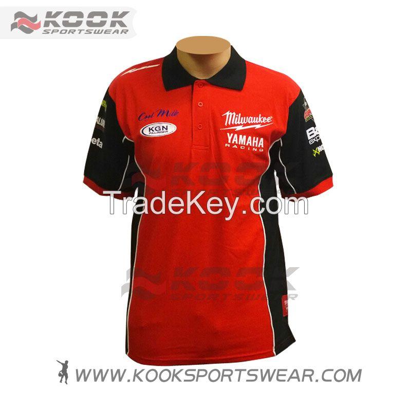 Customized sublimation motor racing shirts racing shirts