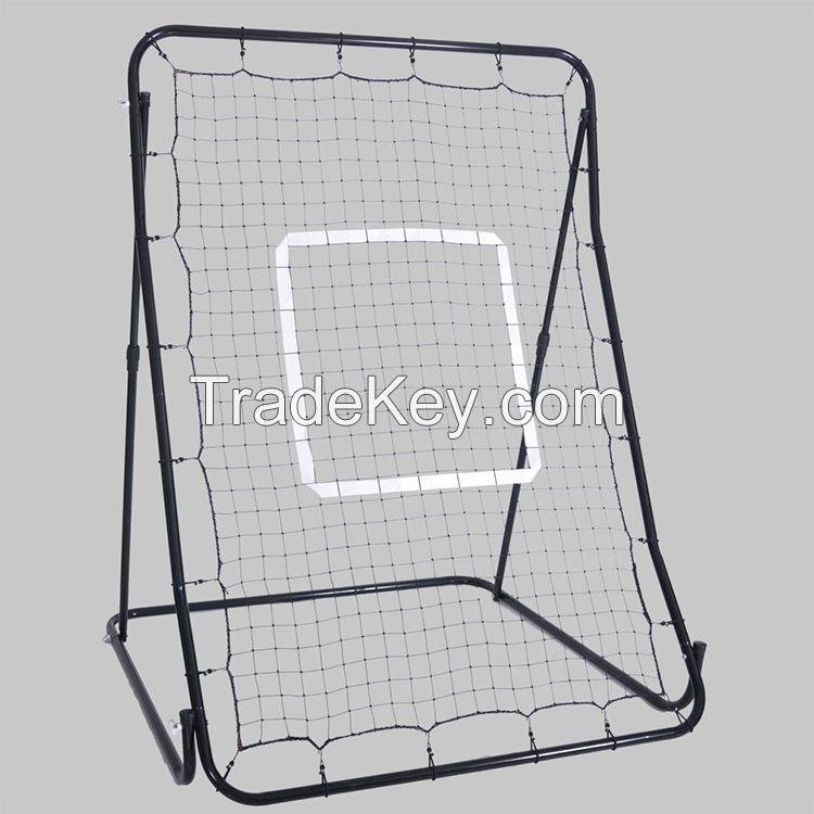 Metal frame baseball batting rebound net for training