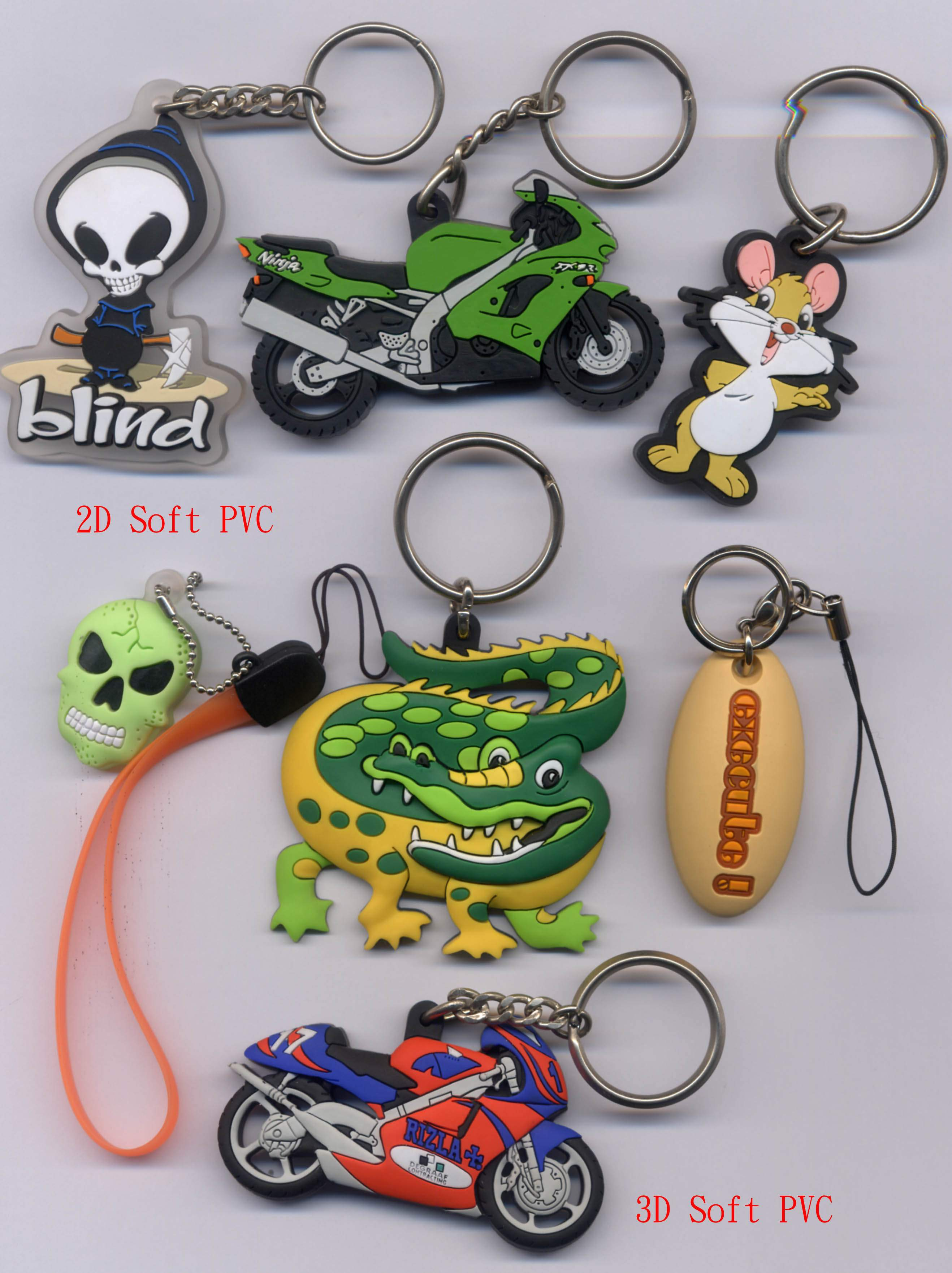 Soft PVC Products Keychain