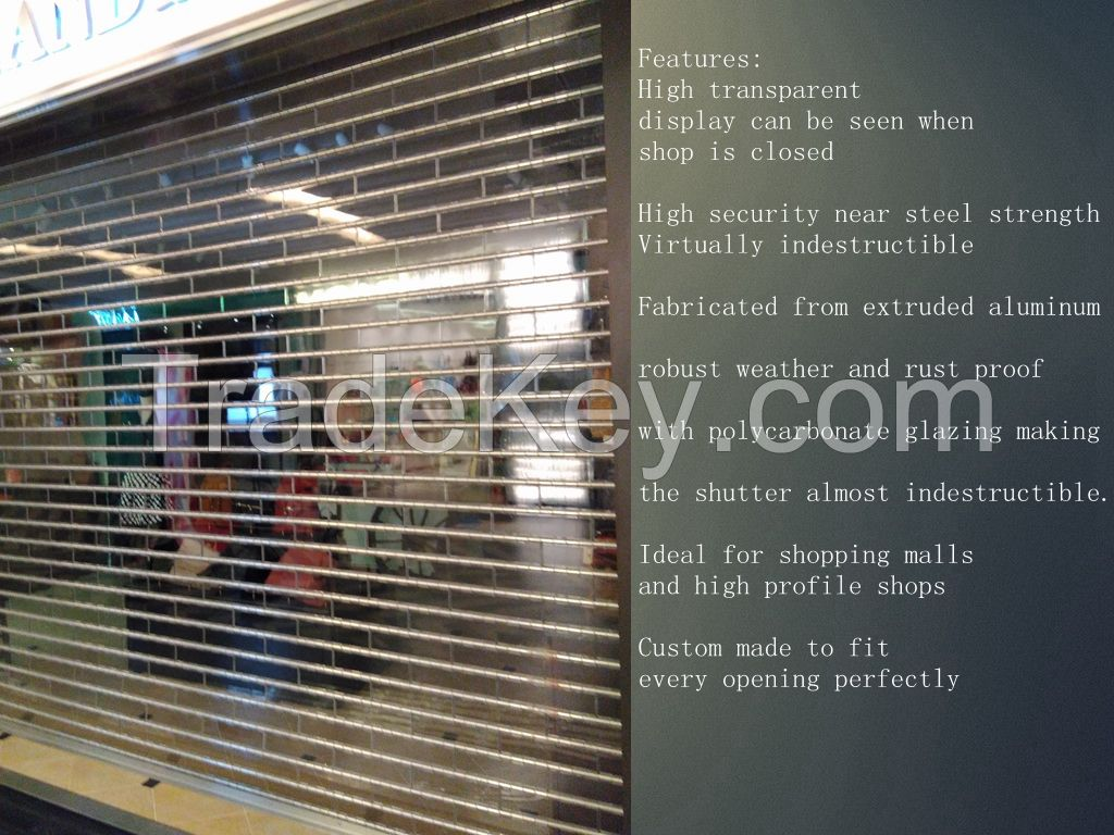 Crystal  rolling shutter slat for show window
