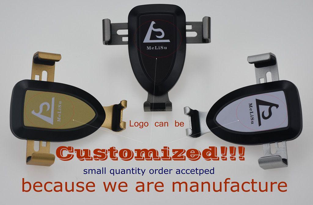 Logo Customized Car Mount 2018 Stylish Cell Phone Holder Gravity Motion By MeLiSu Manufacture