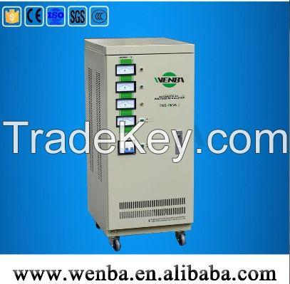 high accuracy 3 phase voltage regulator TNS-9kva