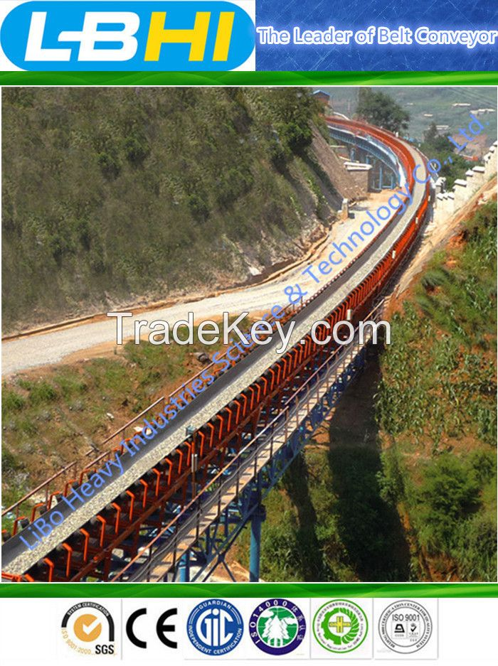 Long-distance Curve Belt Conveyor for Coal MIne and Power Plant